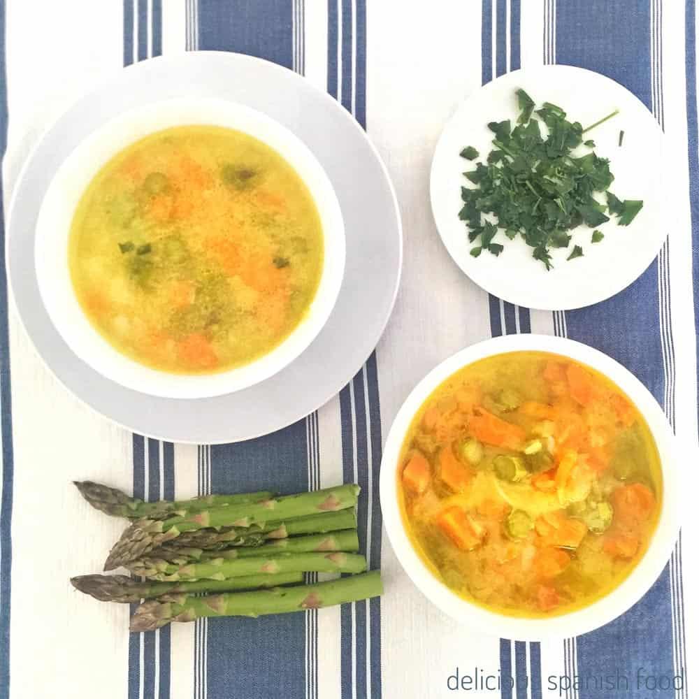 como hacer sopa de puerros