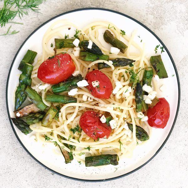 Receta de ensalada de pasta y mozzarella