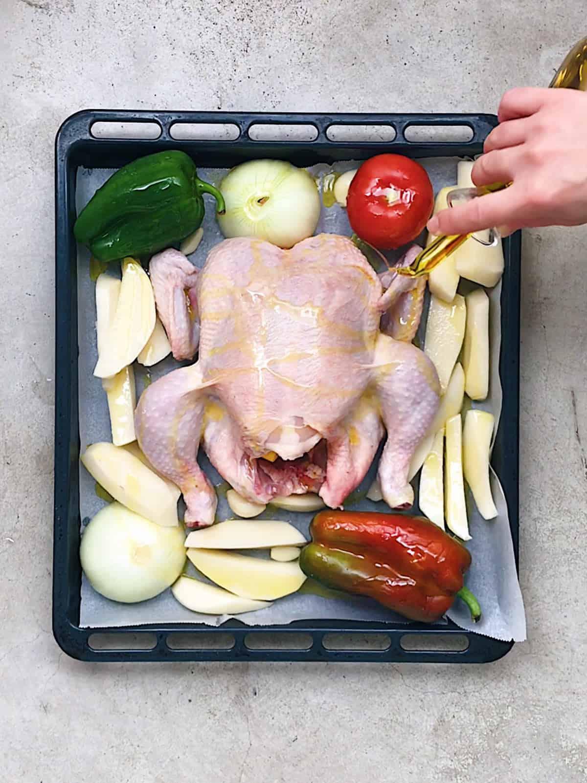 Cómo hacer pollo asado