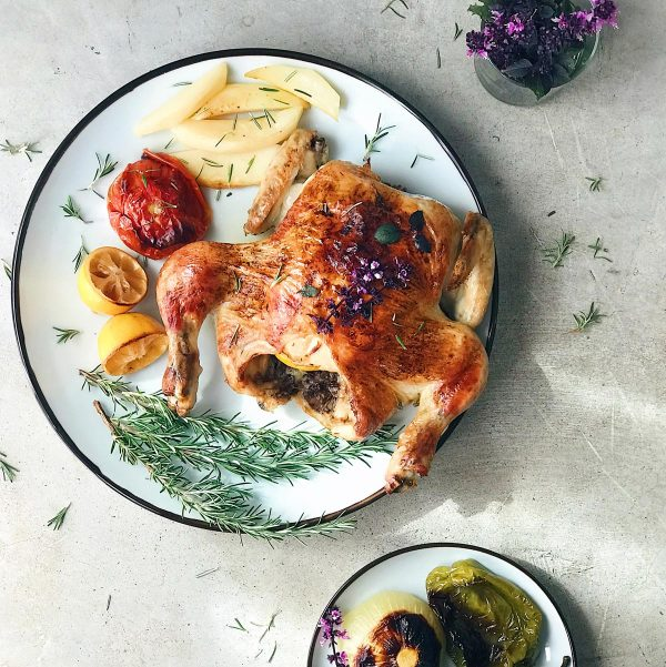 Receta de pollo asado al horno con limón