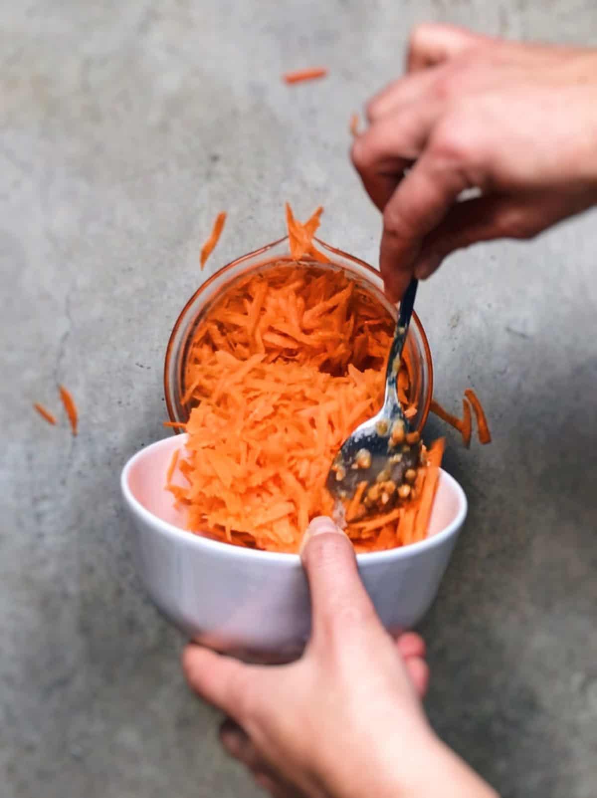 Hamburguesas de lentejas con zanahorias