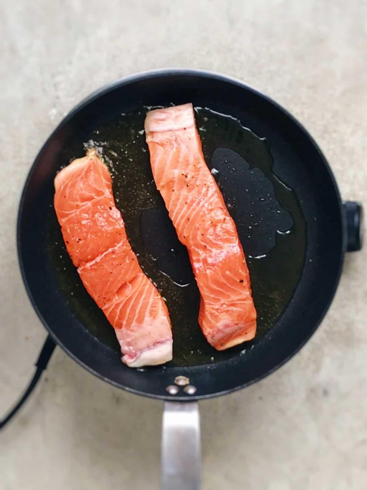 receta de salmón a la plancha