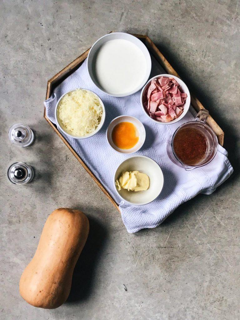 Ingredientes de los espaguetis de calabaza