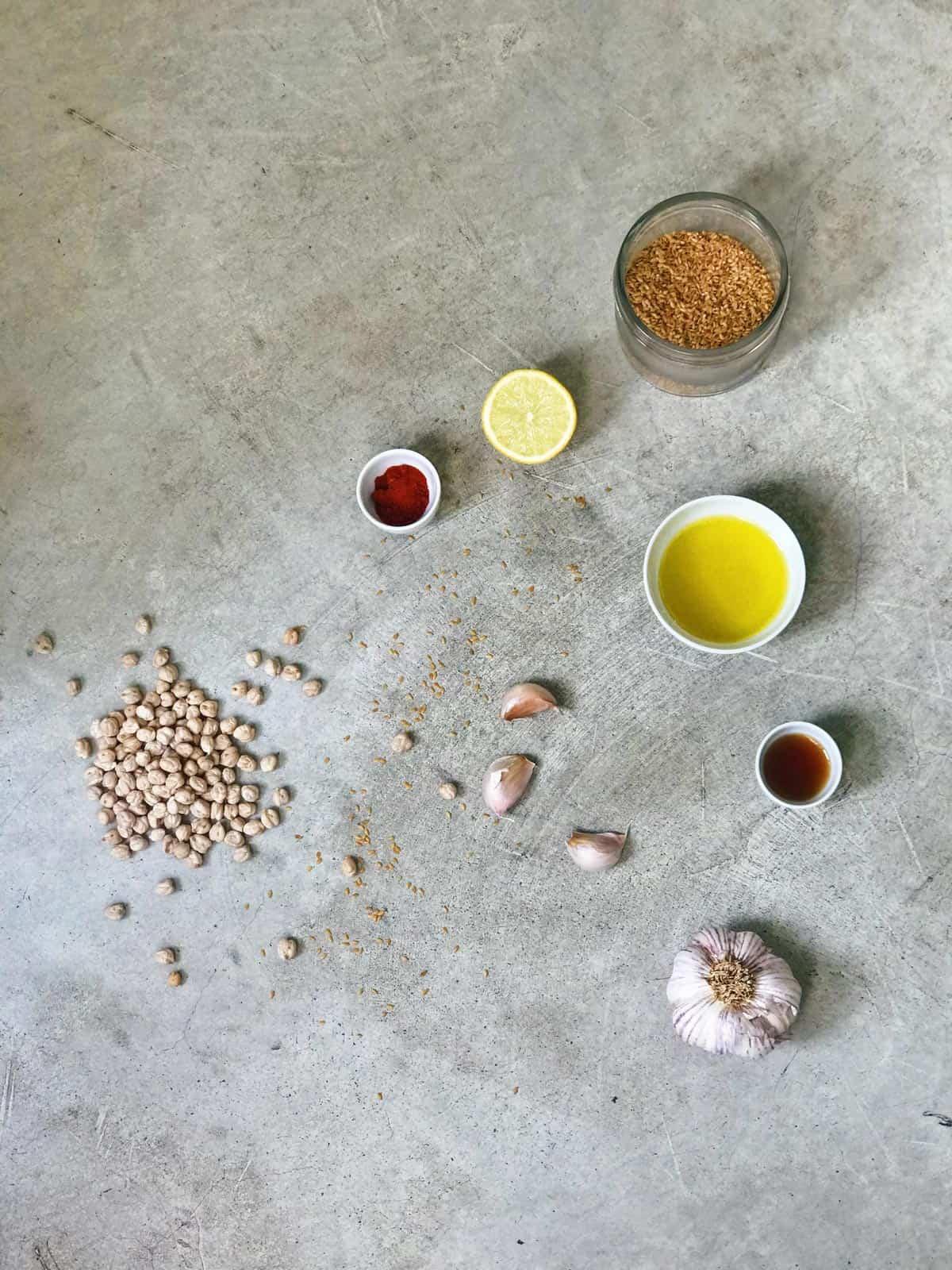 Ingredientes del hummus
