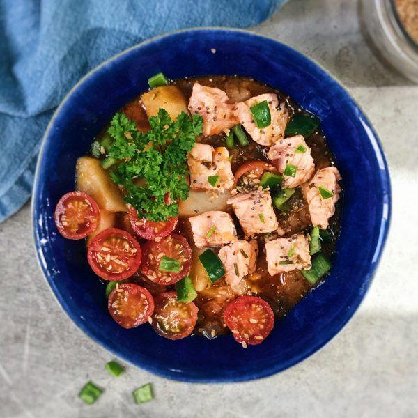 Recetas de salmón estofado