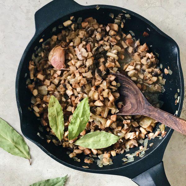 Receta de champiñones con cebolla