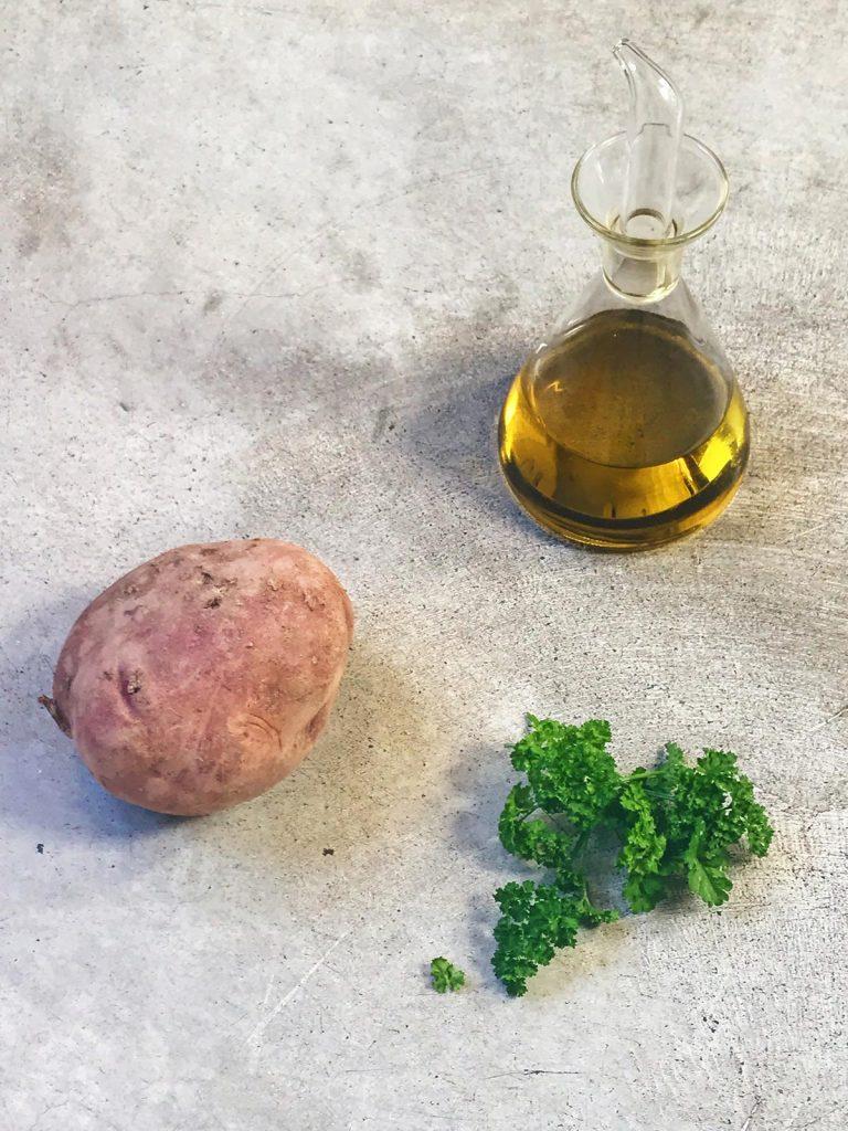 Ingredientes de puré de patatas sencillo