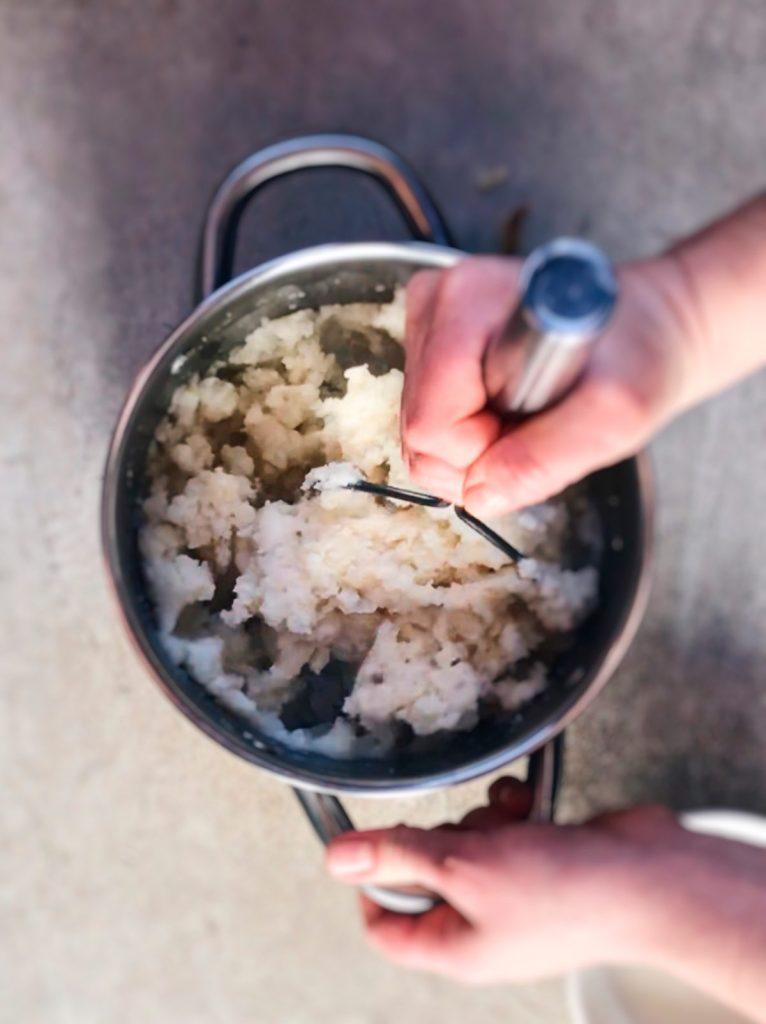 Receta de puré de patatas sin mantequilla