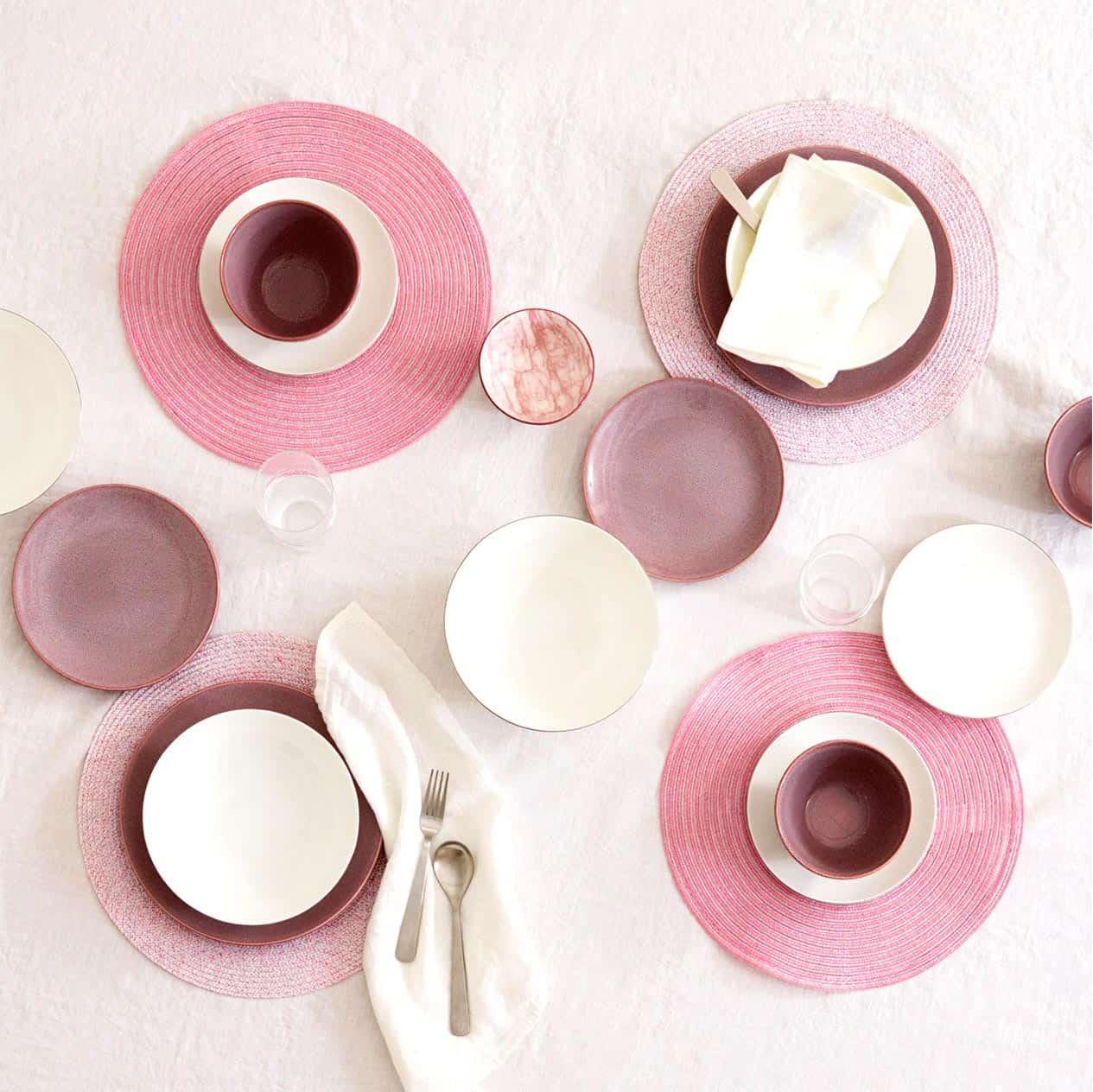 Mesa rosa pastel zara home