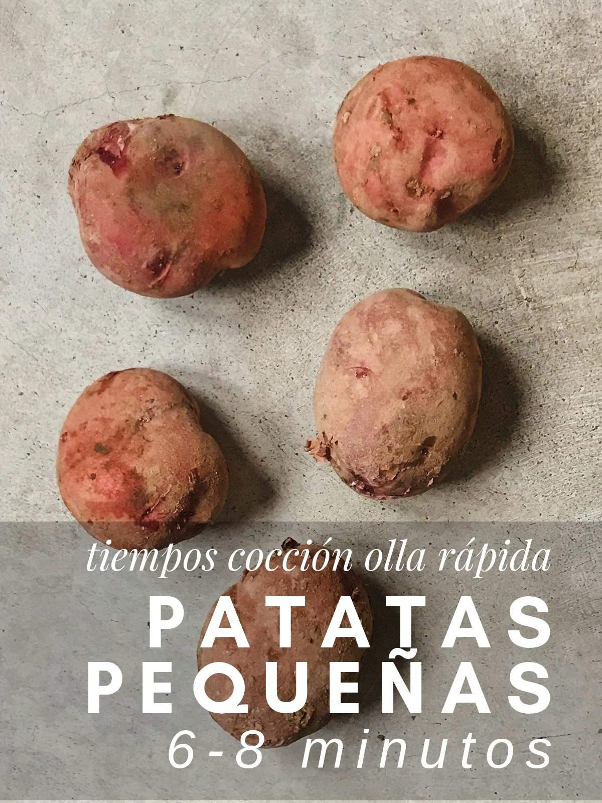 ¿Cuanto tardan las patatas pequeñas en cocer en olla rápida?