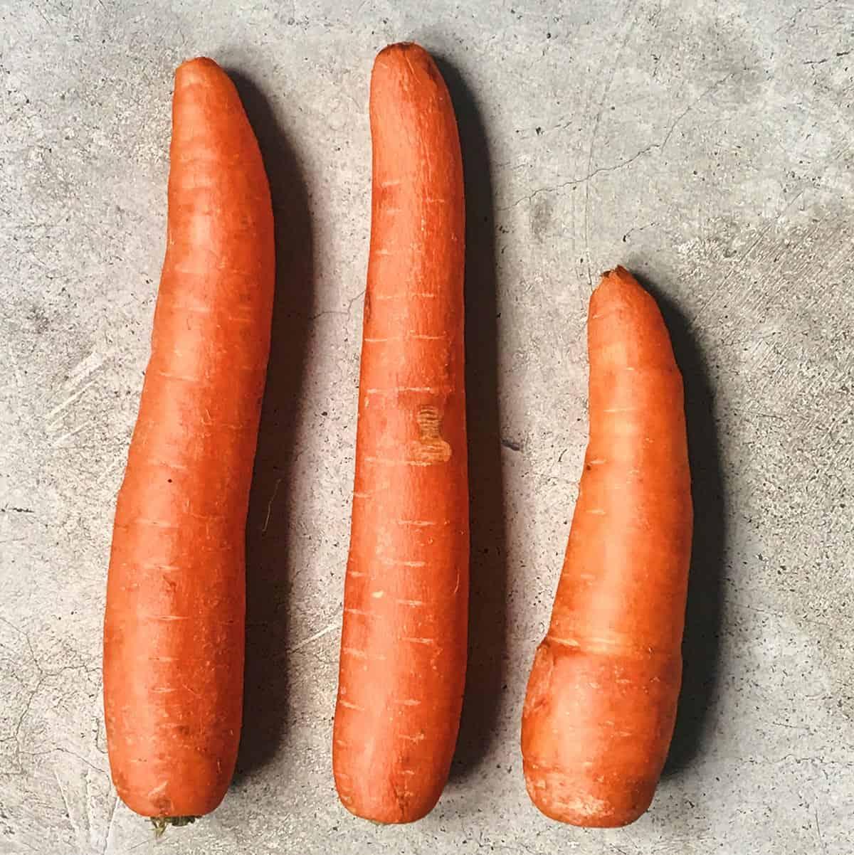 Ingredientes de la ensalada de zanahorias