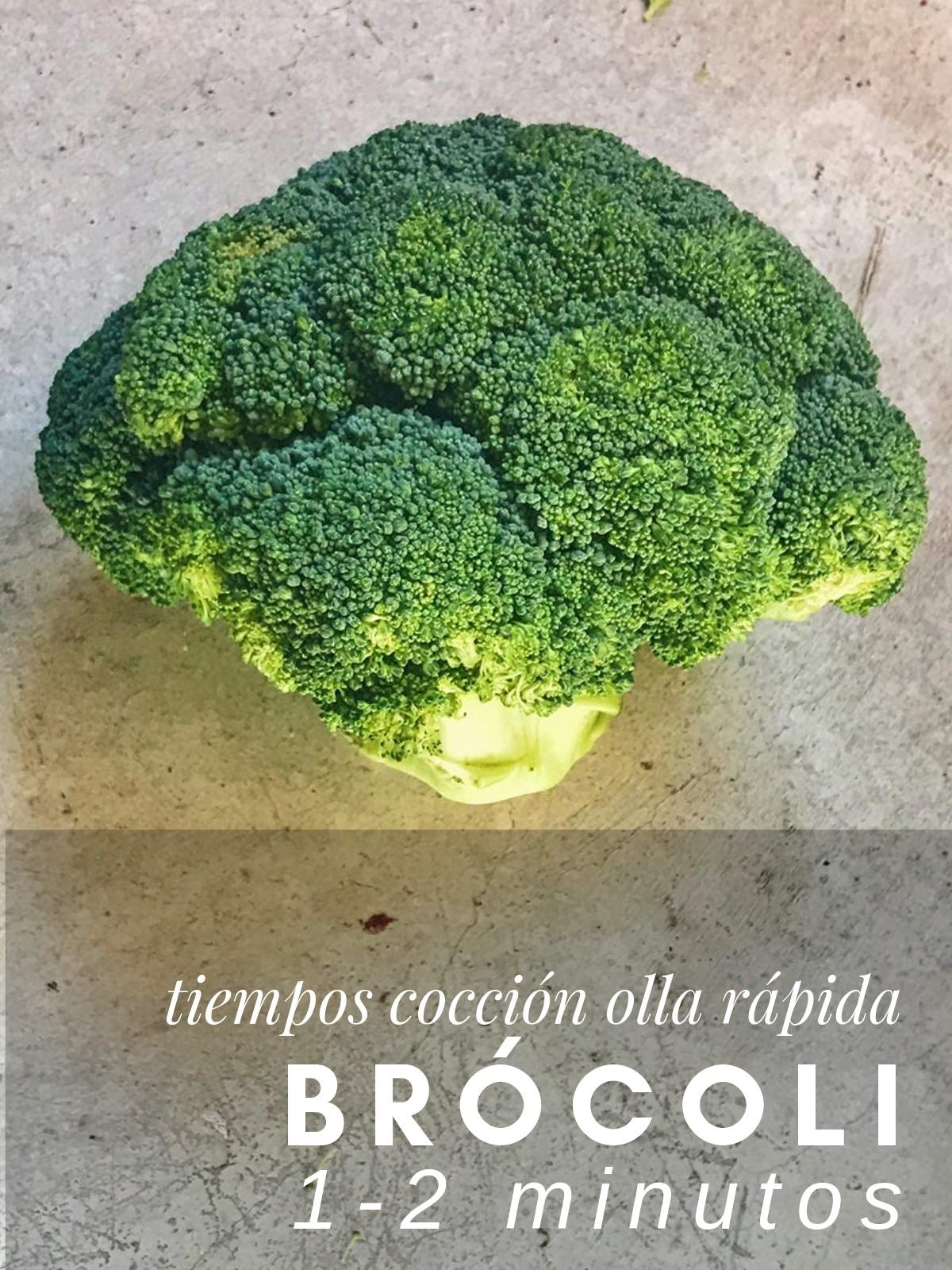 ¿Cuanto tarda el brocoli en cocer en olla rápida?