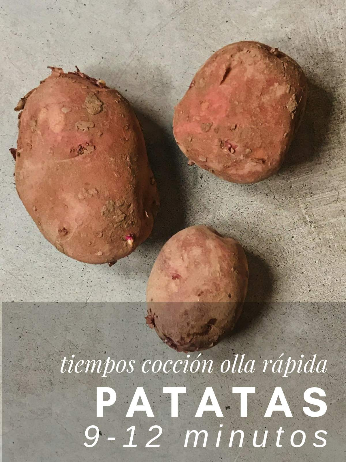 ¿Cuanto tarda las patatas en cocer en olla rápida?