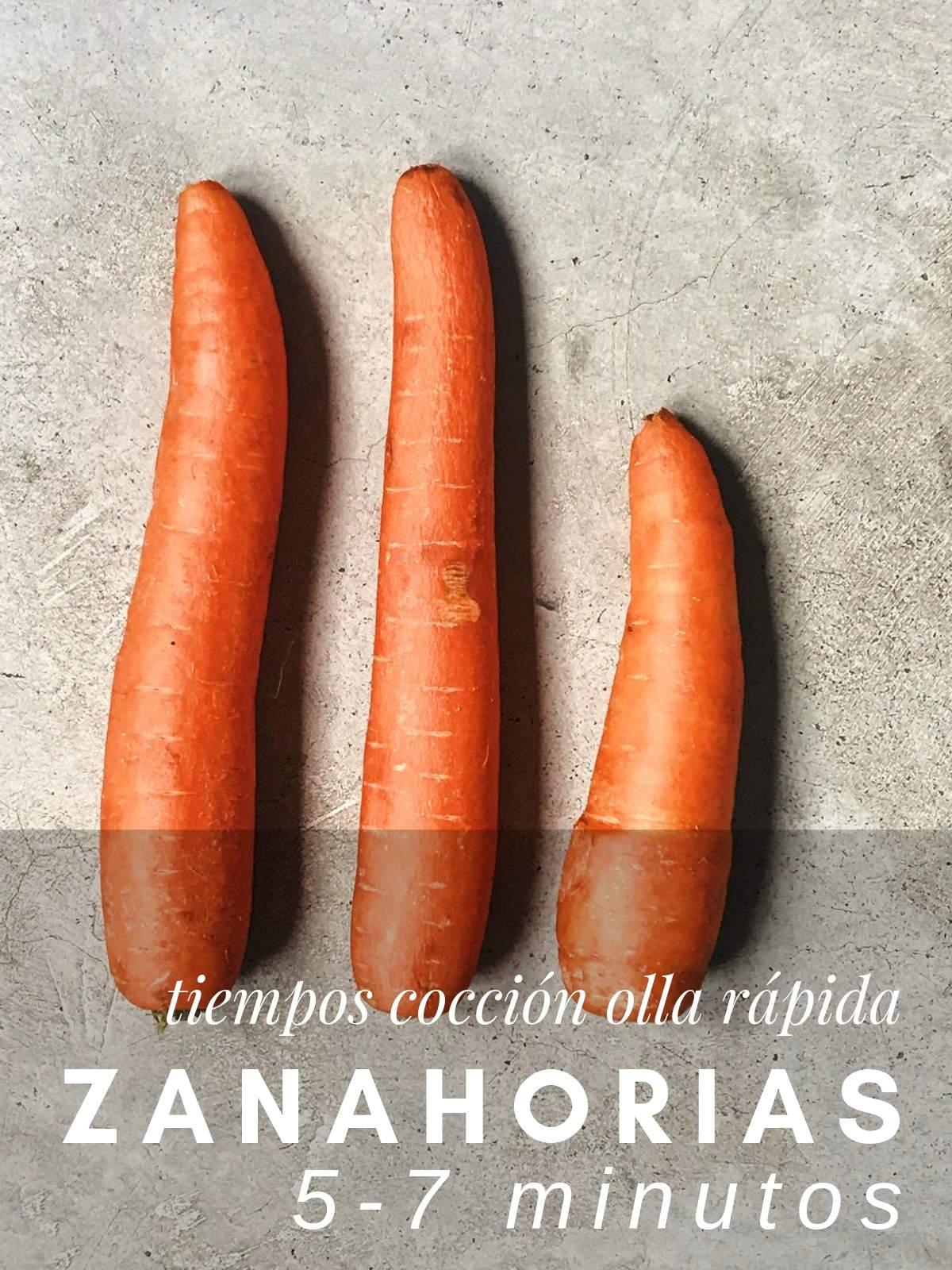 ¿Cuanto tardan las zanahorias en cocer en olla rápida?