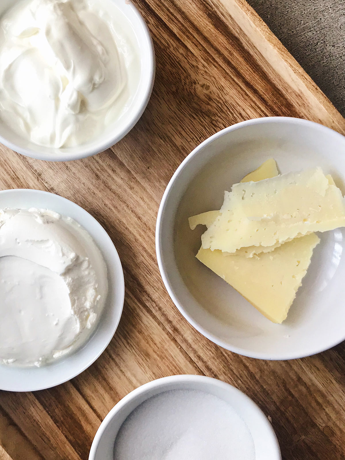 Ingredientes de helado de queso