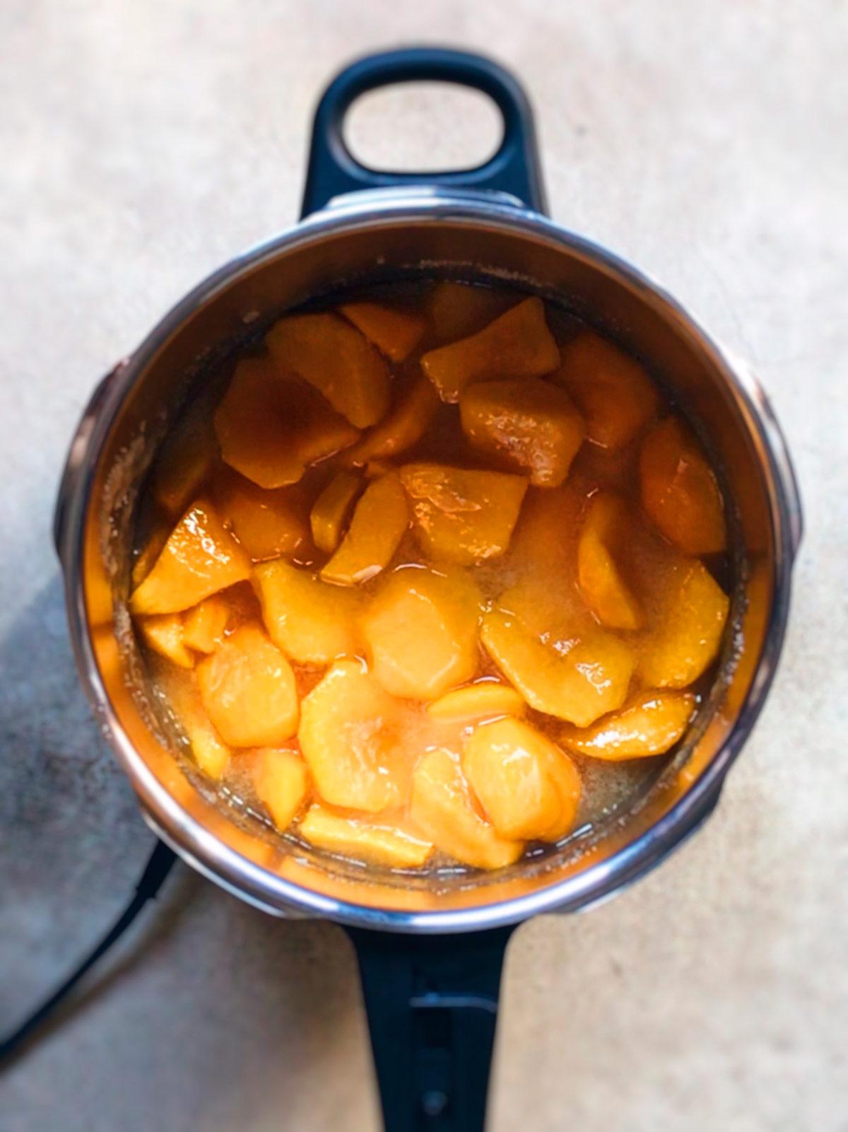 Tiempos de cocción de la mermelada de melocotón