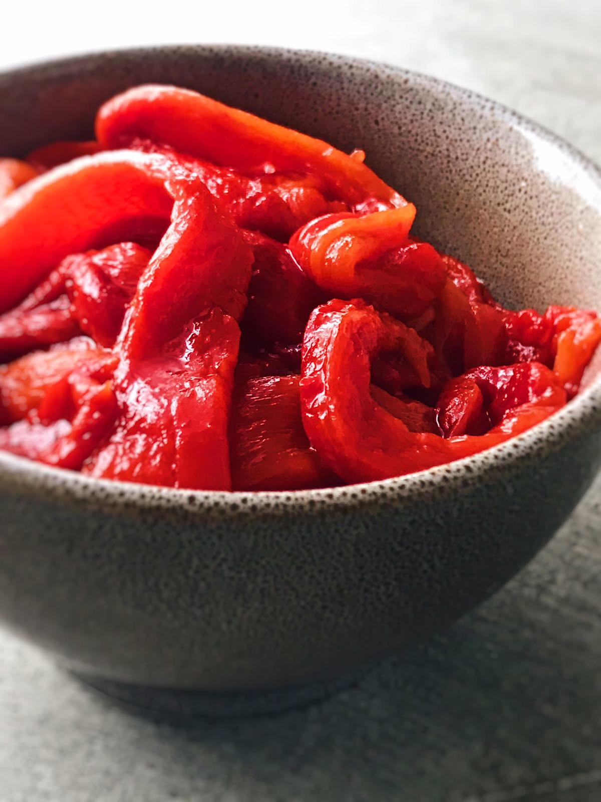 receta de pimientos rojos asados
