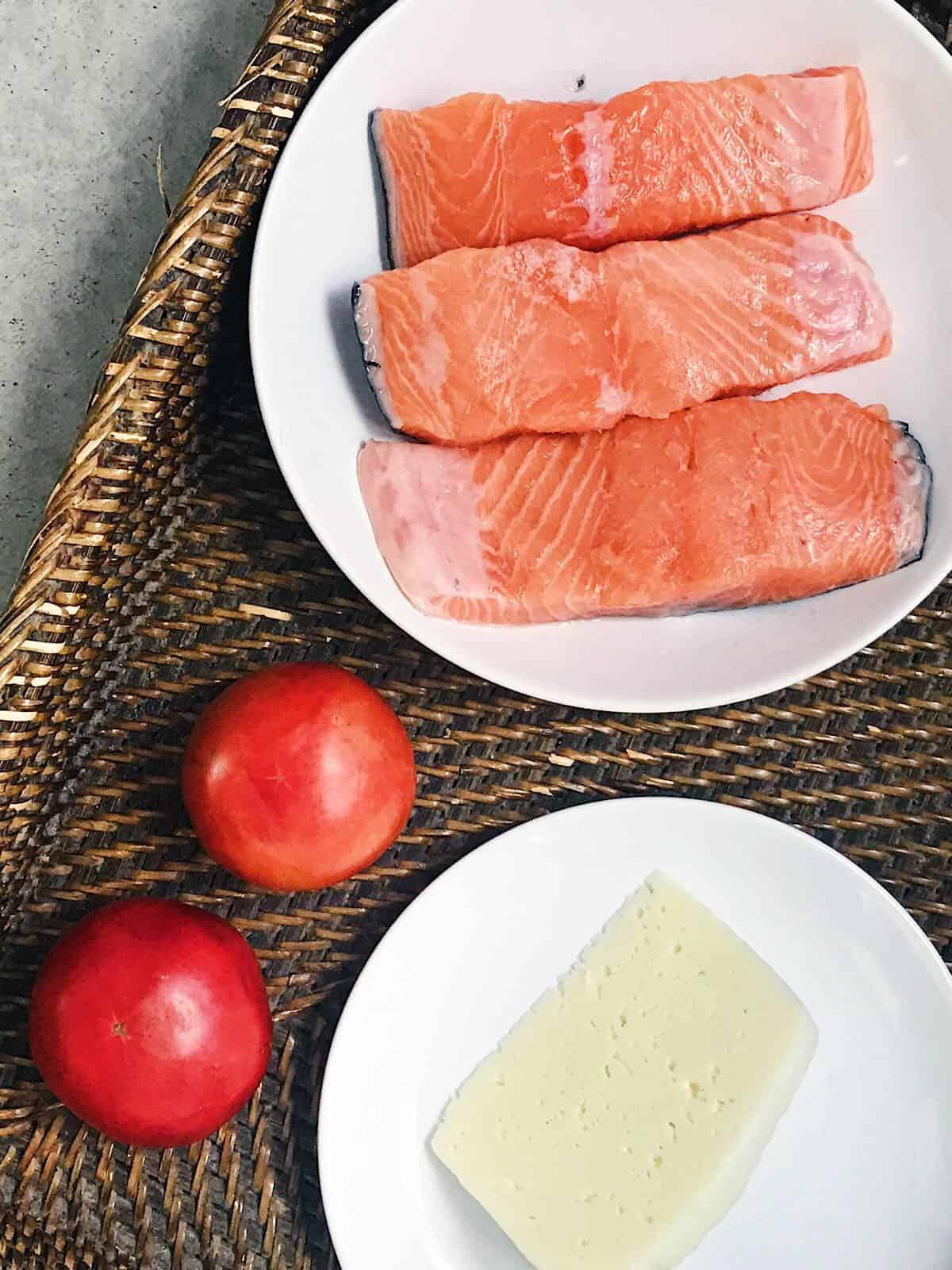 ingredientes de salmon al horno