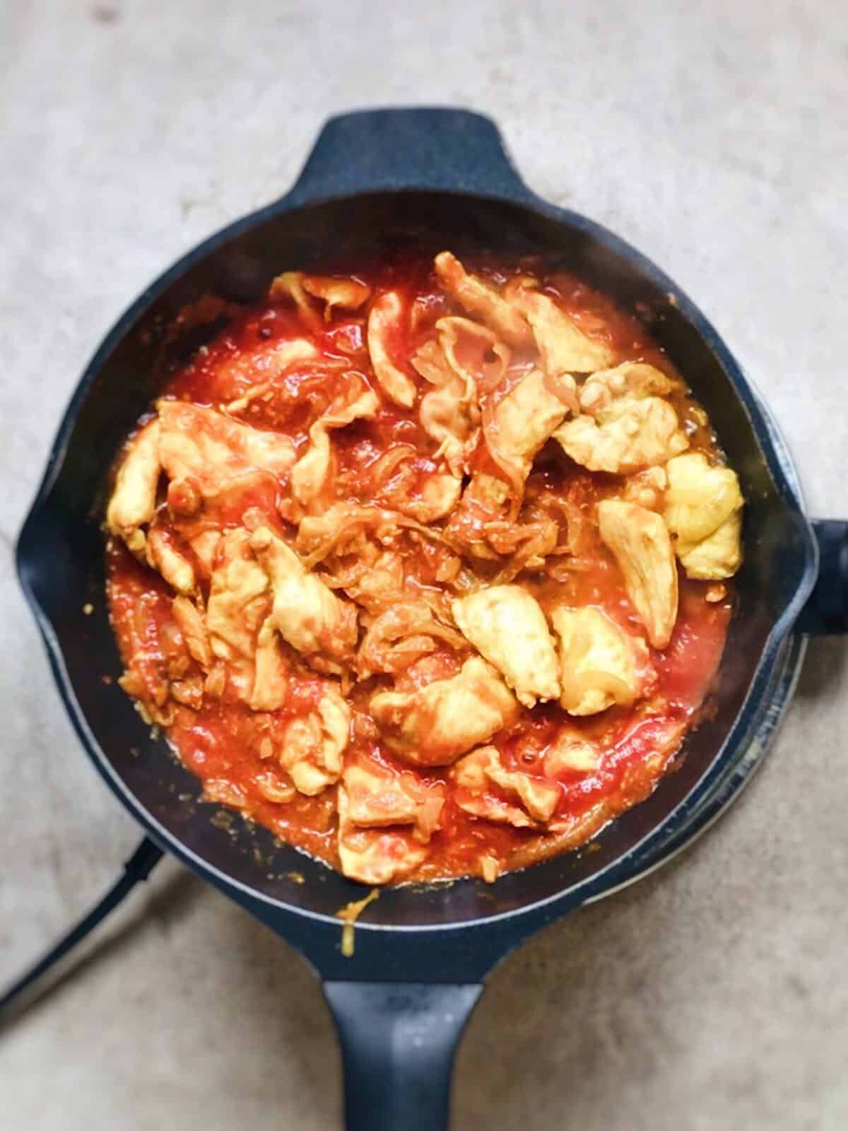 Pollo con curry para llevar