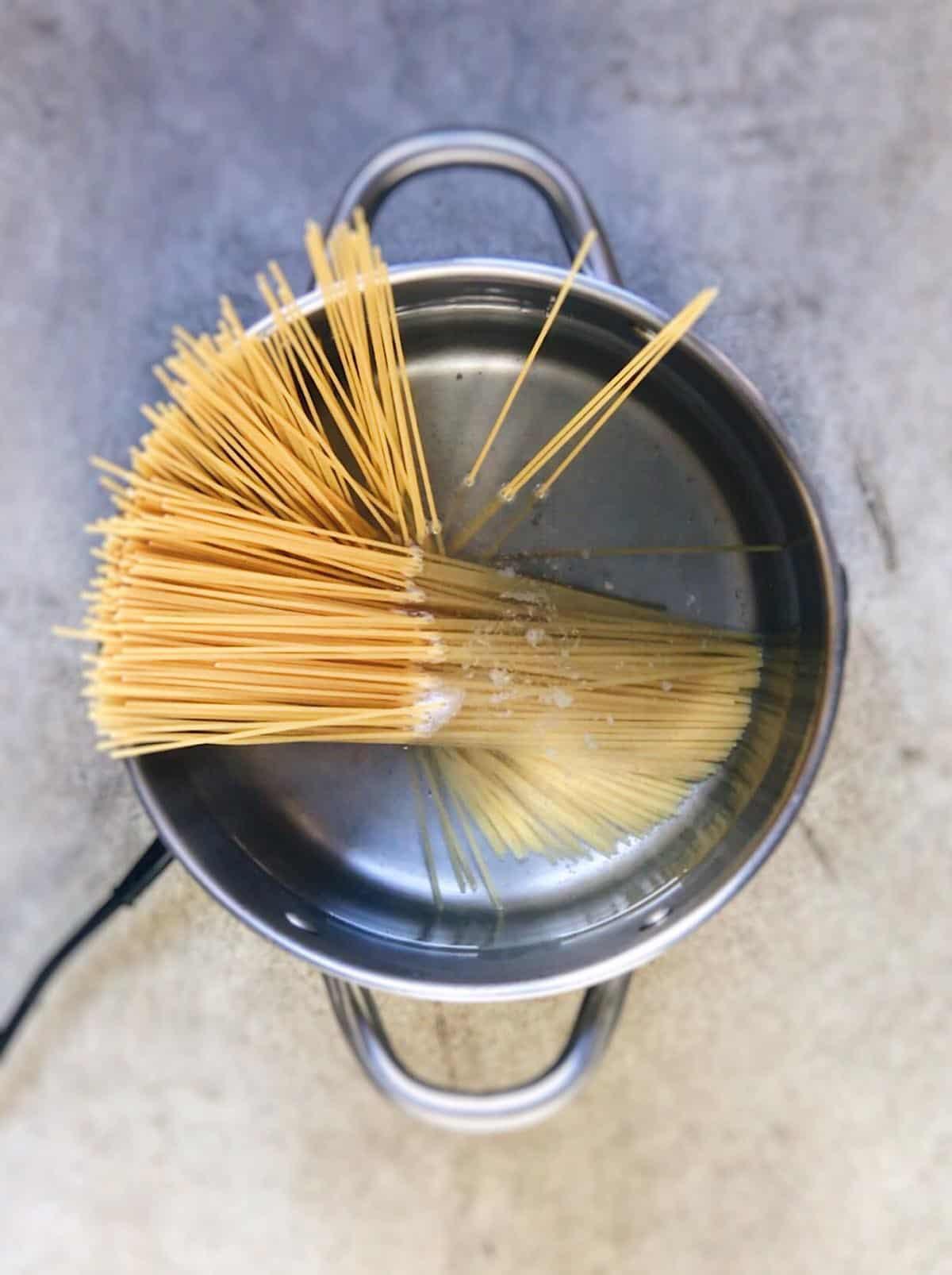 cocción de espaguetis