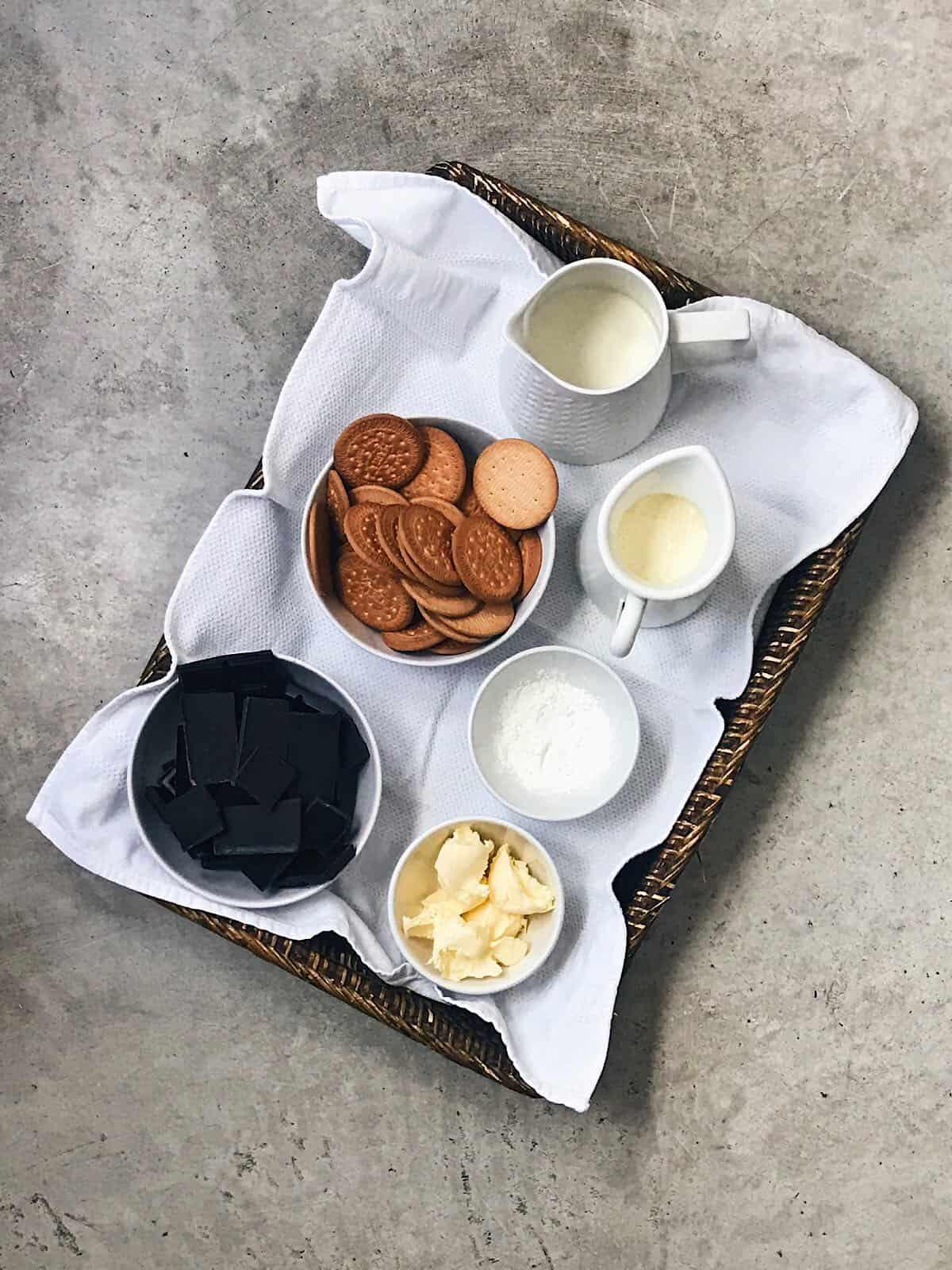 ingredientes de tarta de chocolate