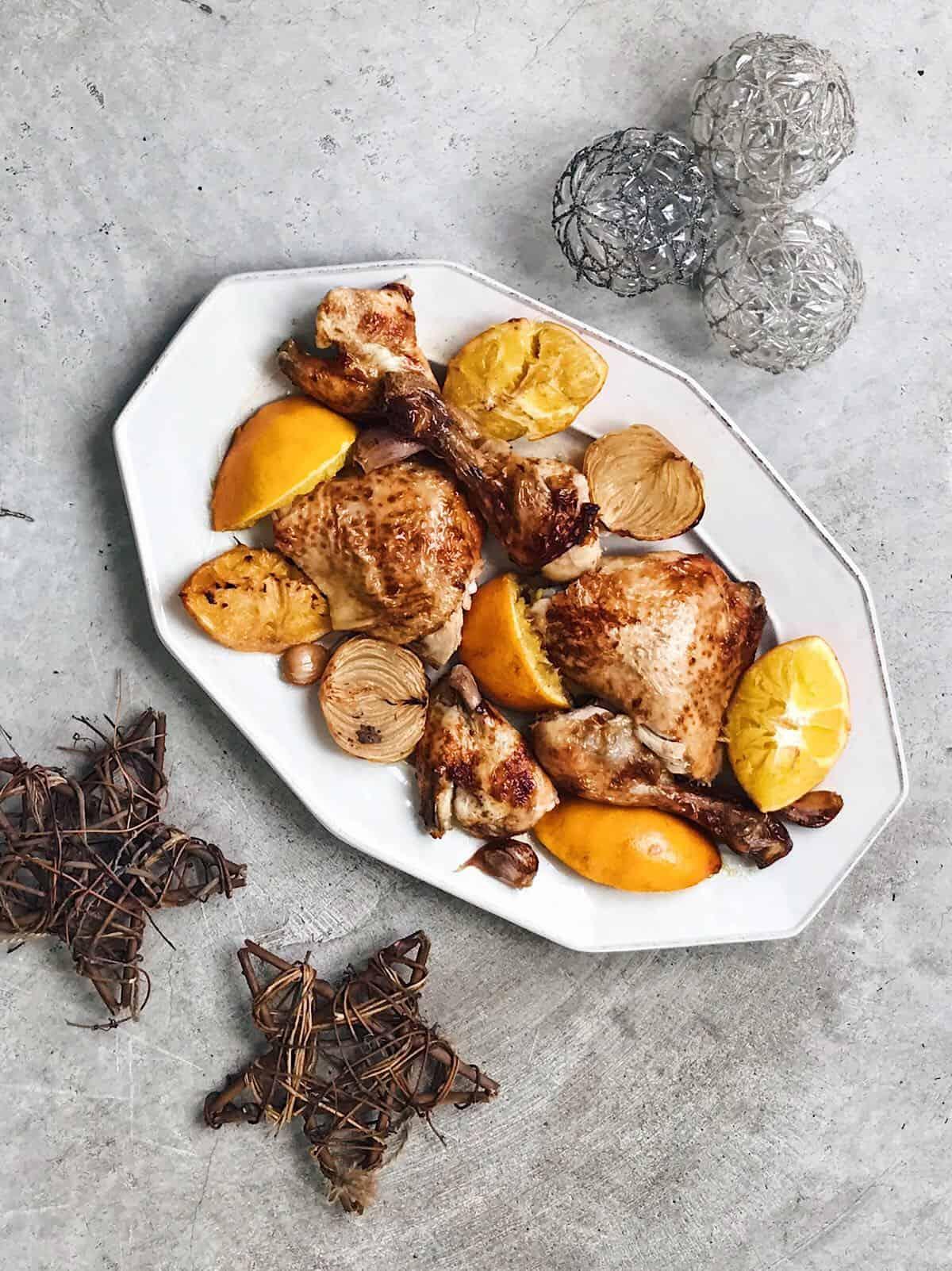 pollo asado navideño