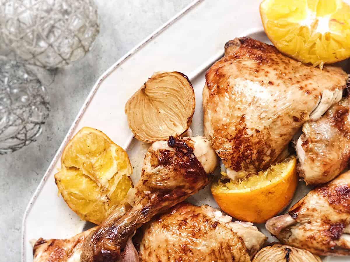pollo con naranja para navidad al horno