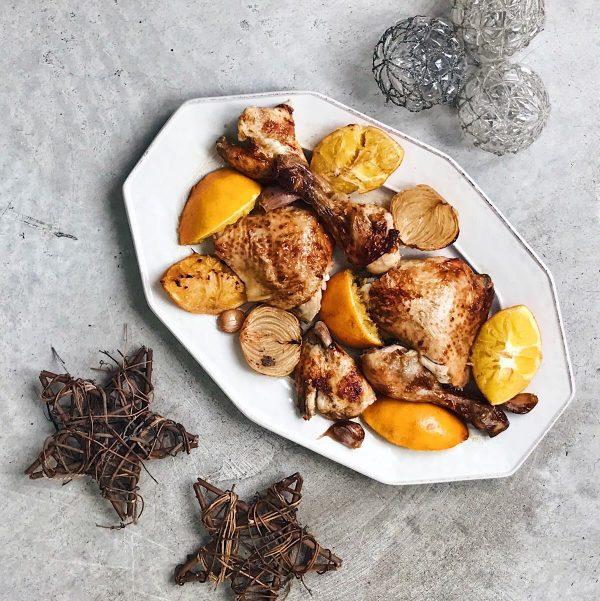 receta de pollo con naranja