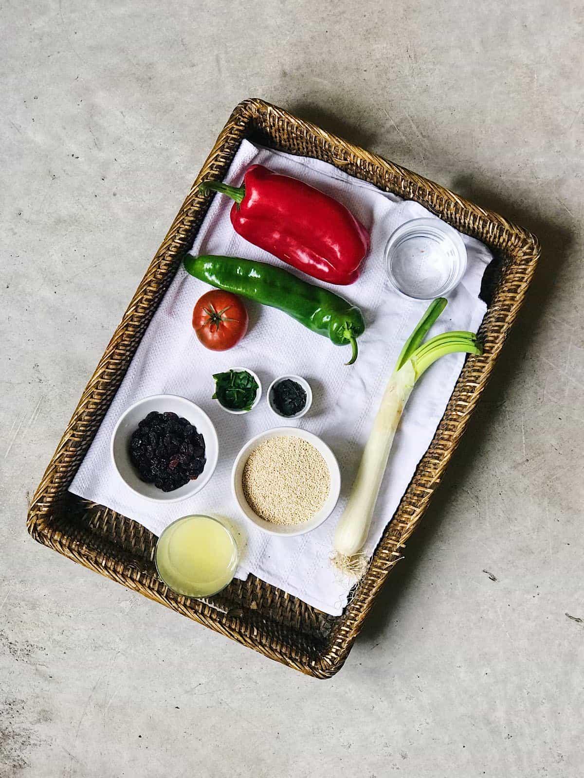ingredientes del tabule de quinoa