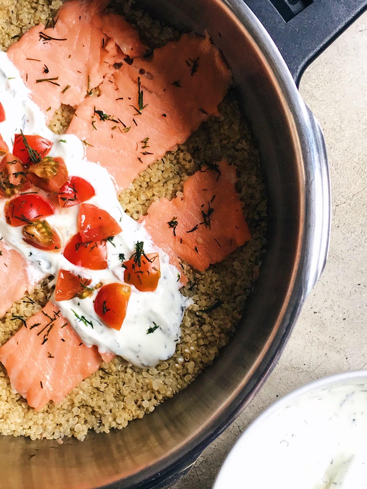 receta de quina con salmon fresco