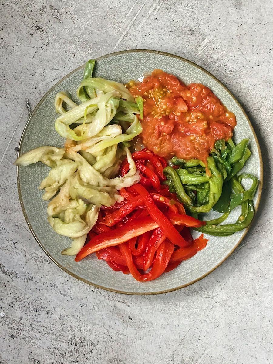 asar verduras con microondas