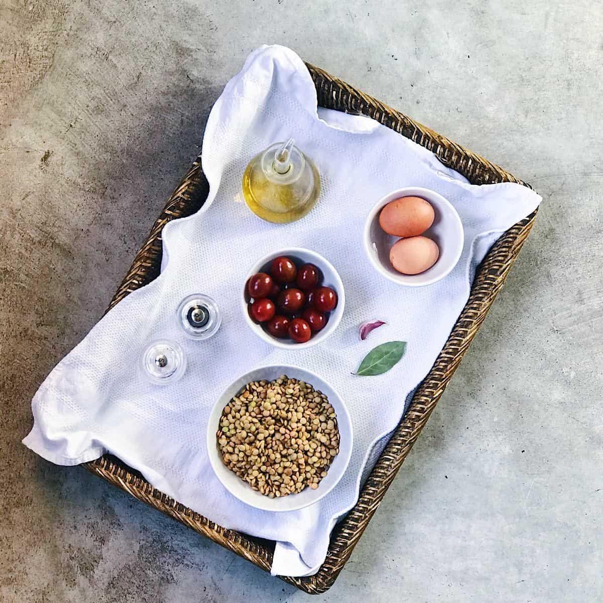 ingredientes de ensalada de lentejas