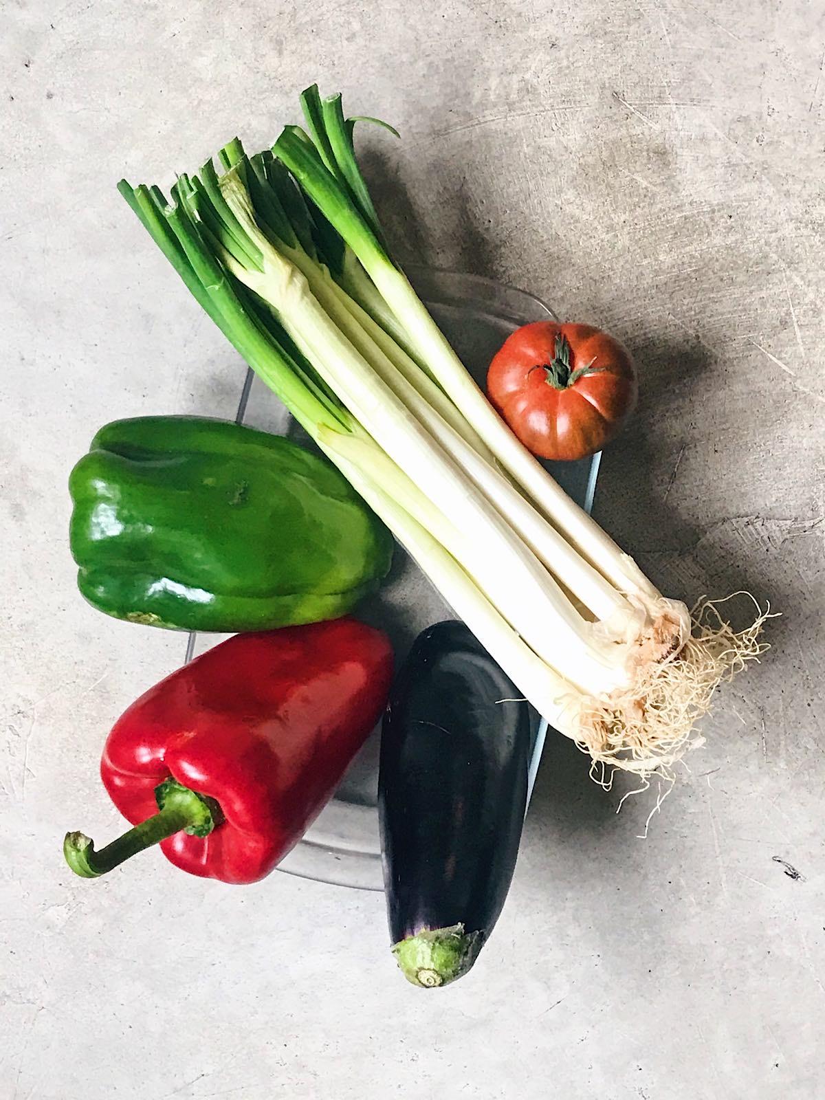 ingredientes de receta de verduras asadas
