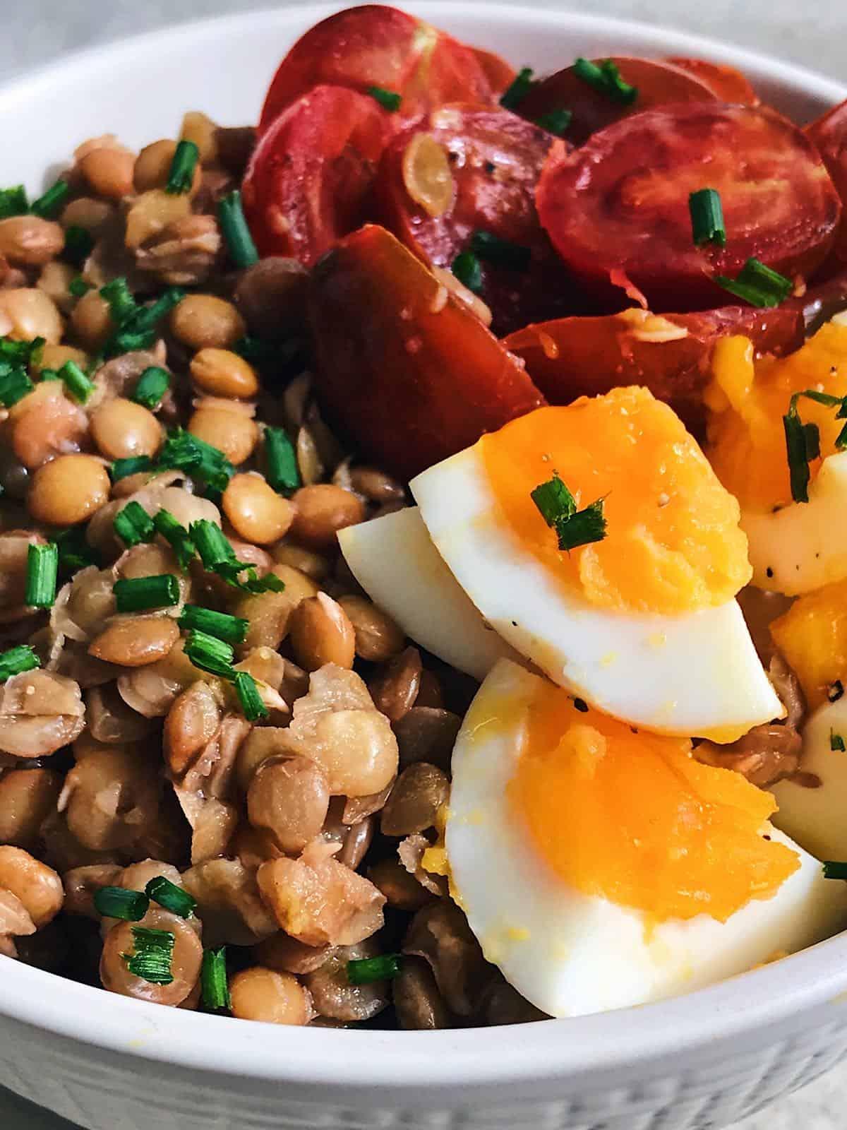 receta de legumbres en ensalada fria
