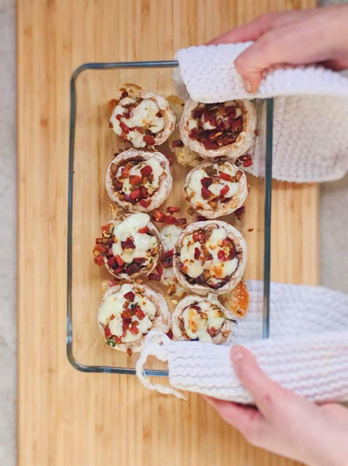 receta de champiñones rellenos al horno