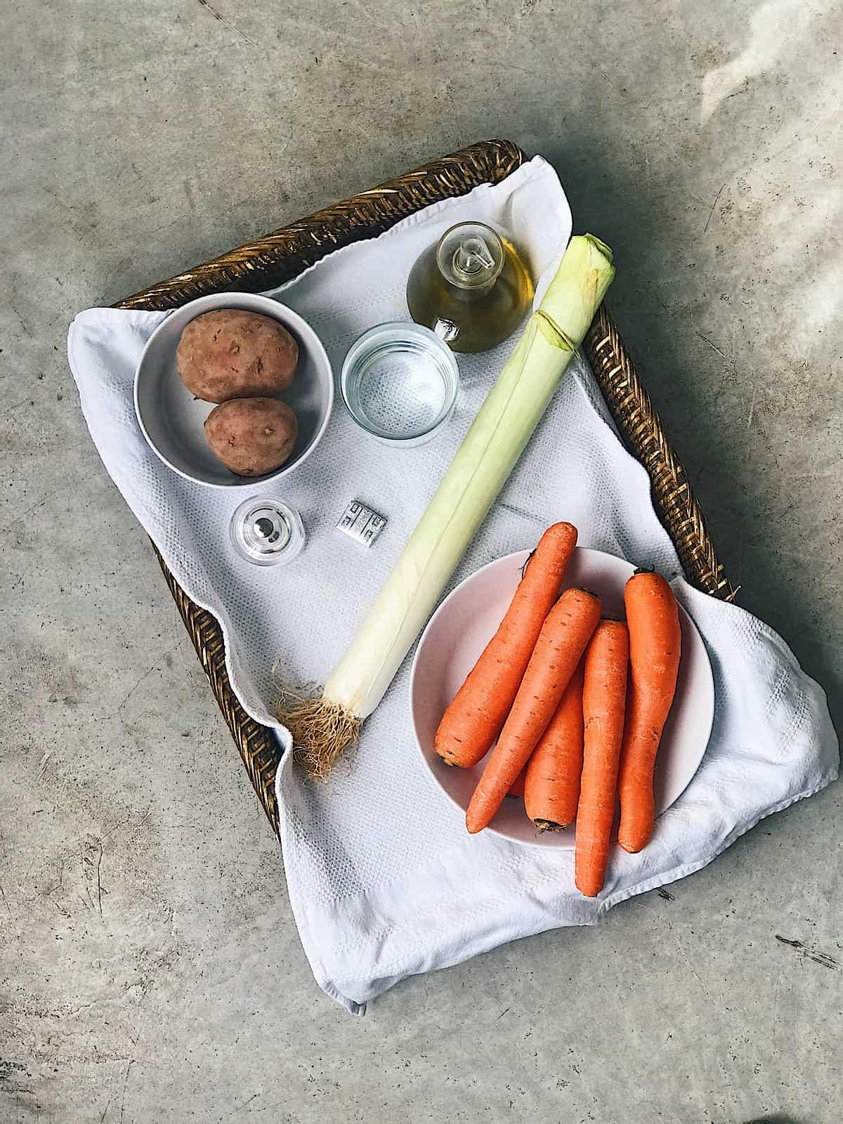 Ingredientes de crema de verduras