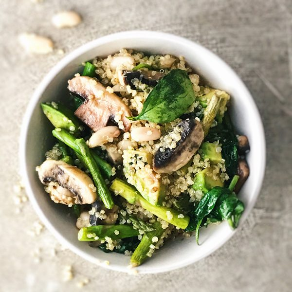 receta de ensalada de judias con quinoa