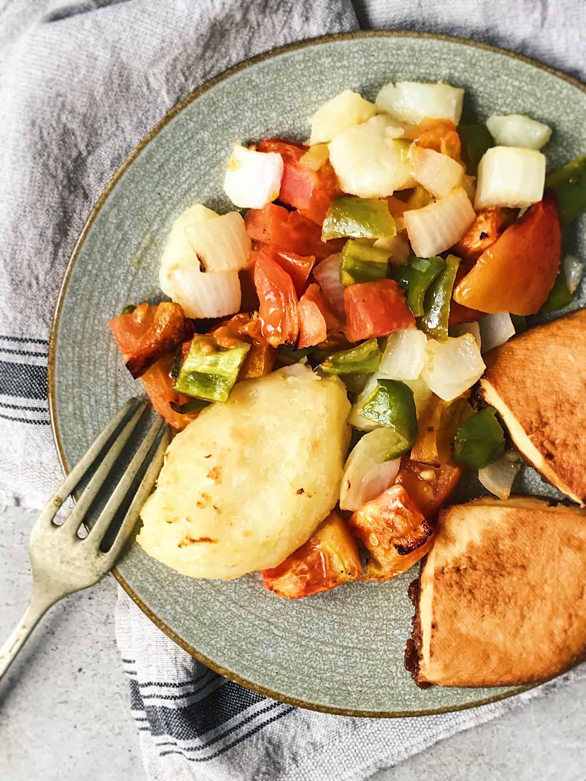 receta vegana con tofu y verduras