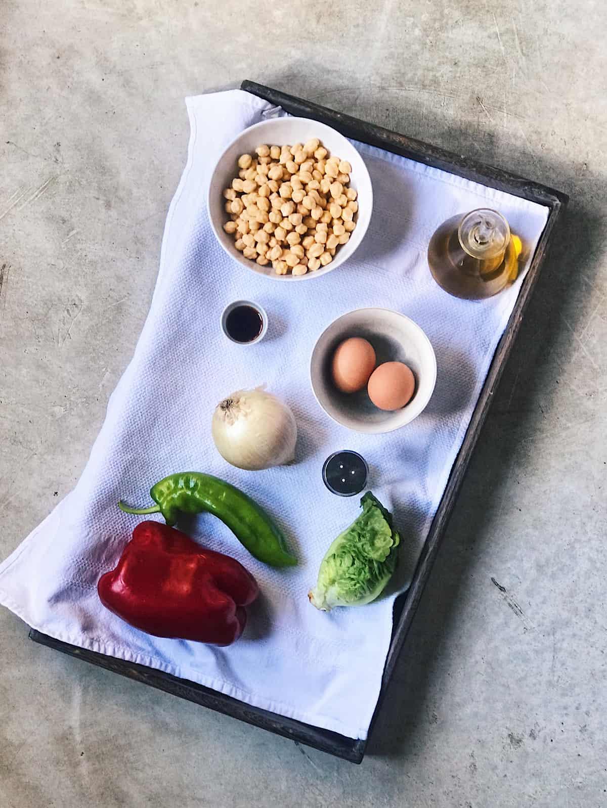 Ingredientes ensalada de garbanzos