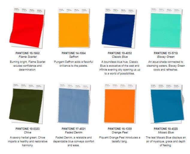 pantone colores de verano 2020