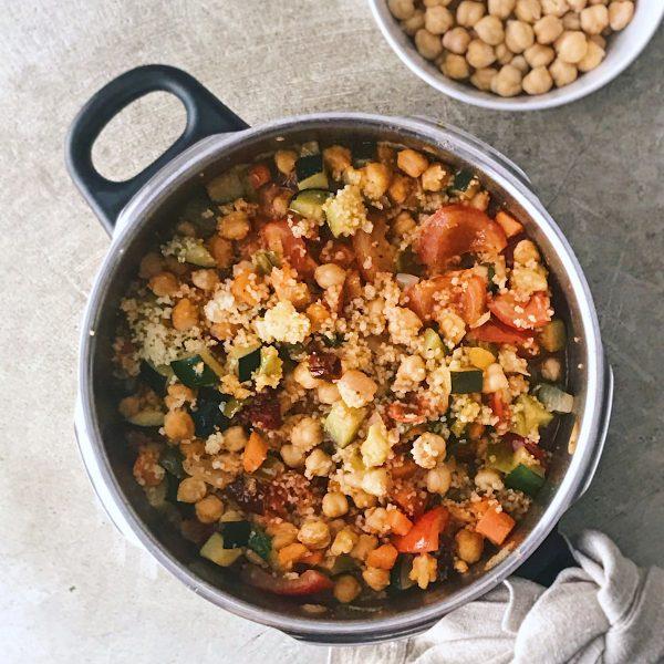 Receta de minestrone con garbanzos