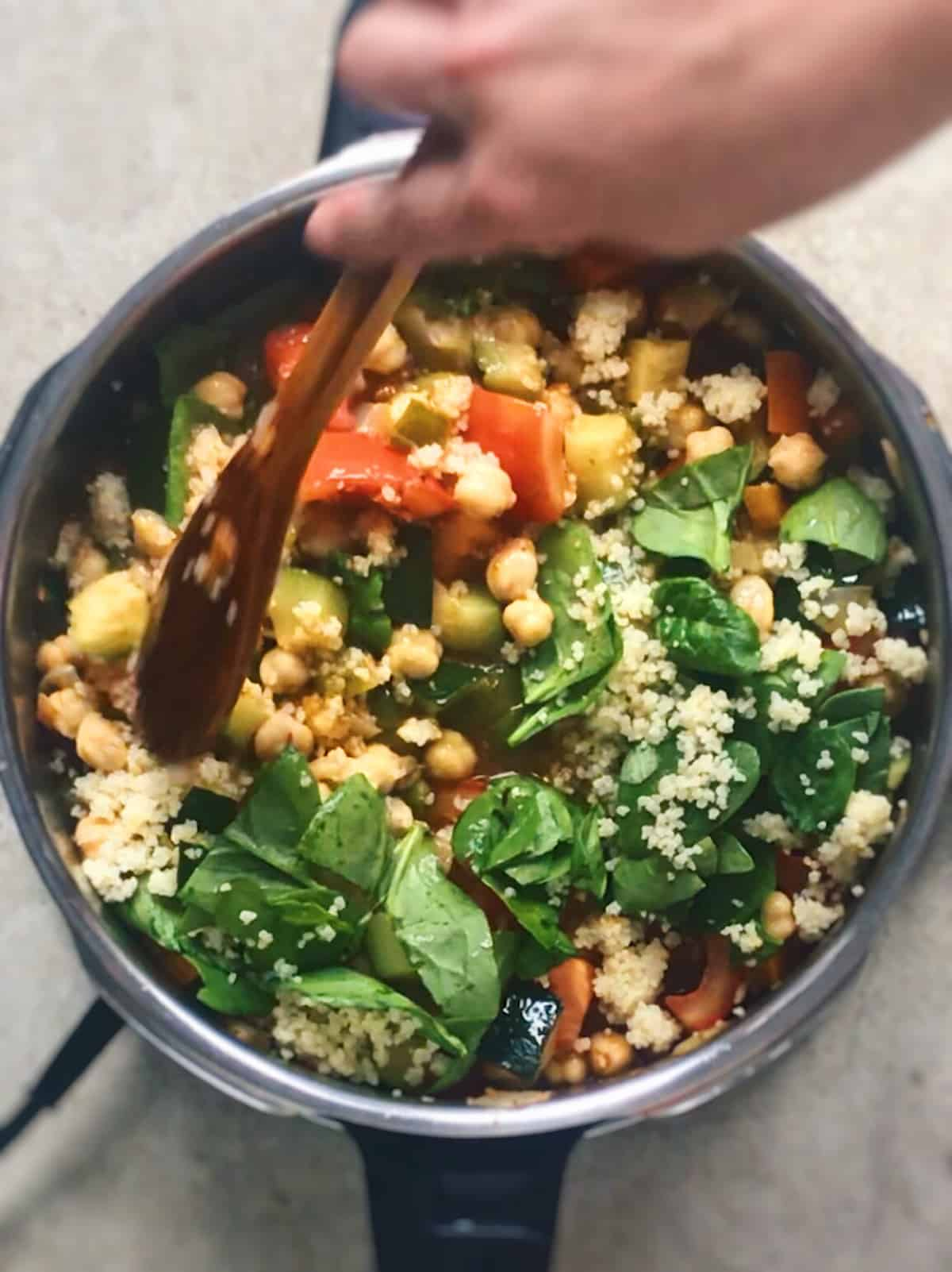 Receta sana de minestrone