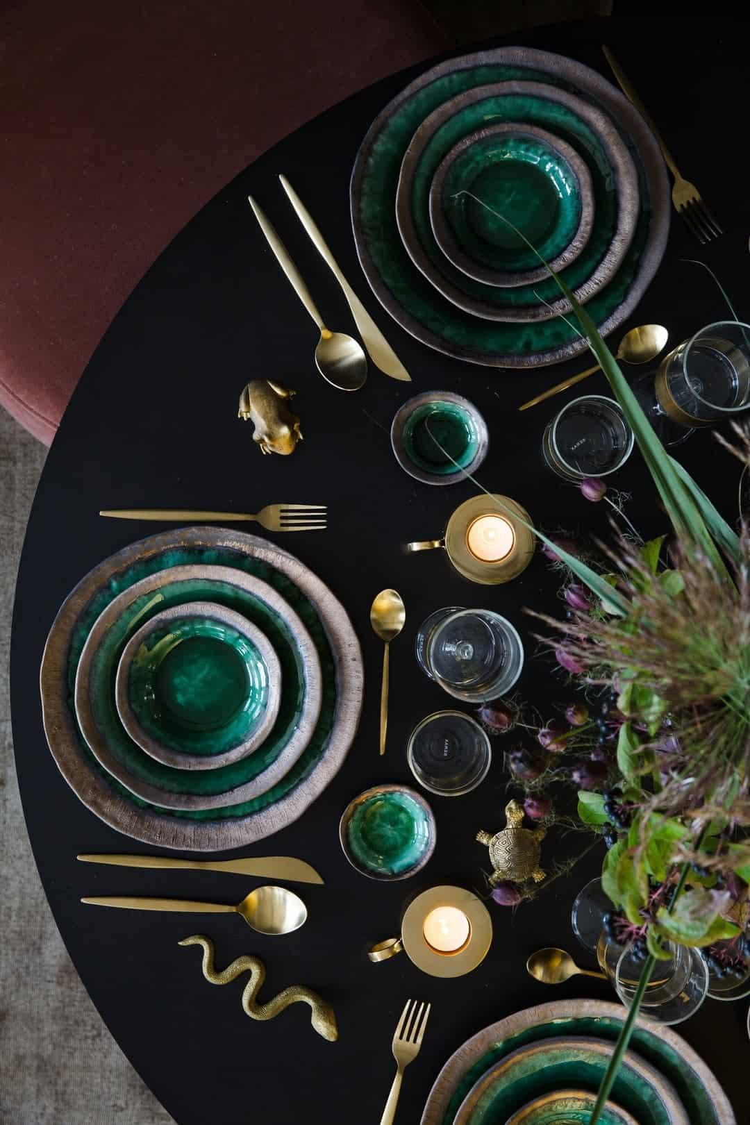planete deco mesa verde otoño