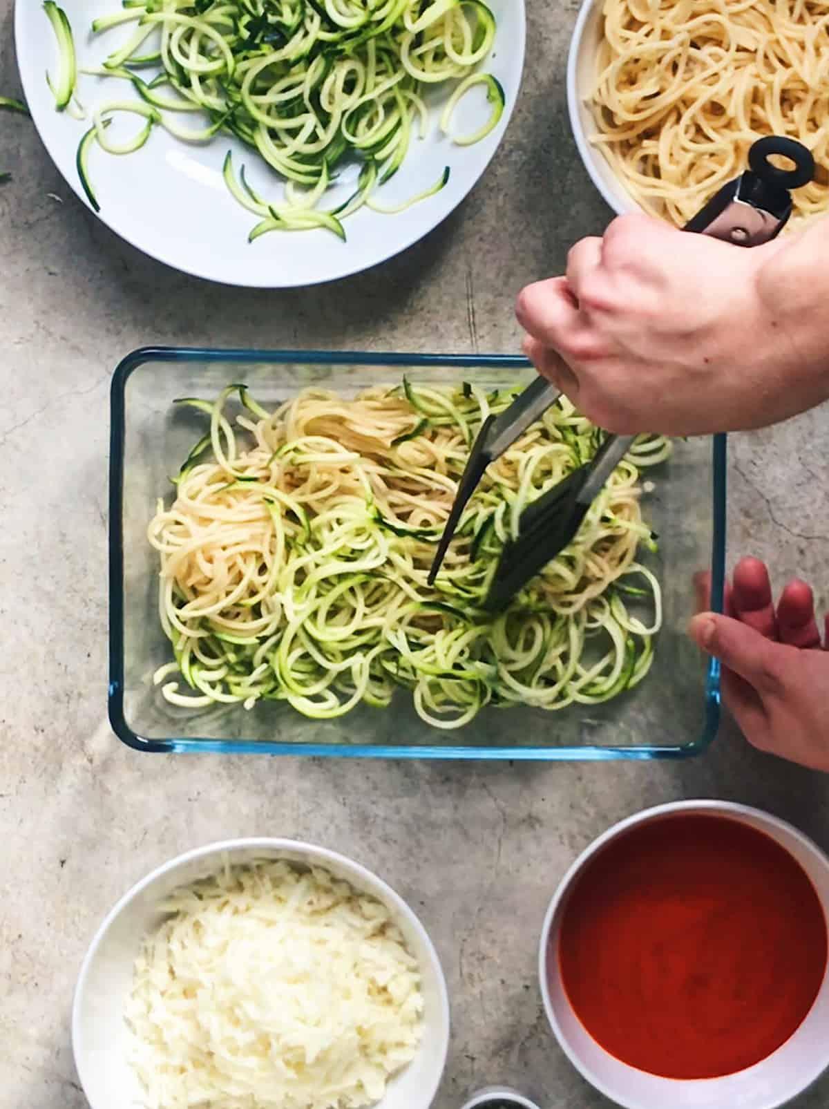 Como preparar espaguetis con calabacin