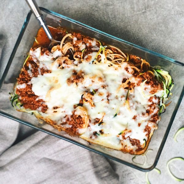 Receta de espaguetis con calabacin