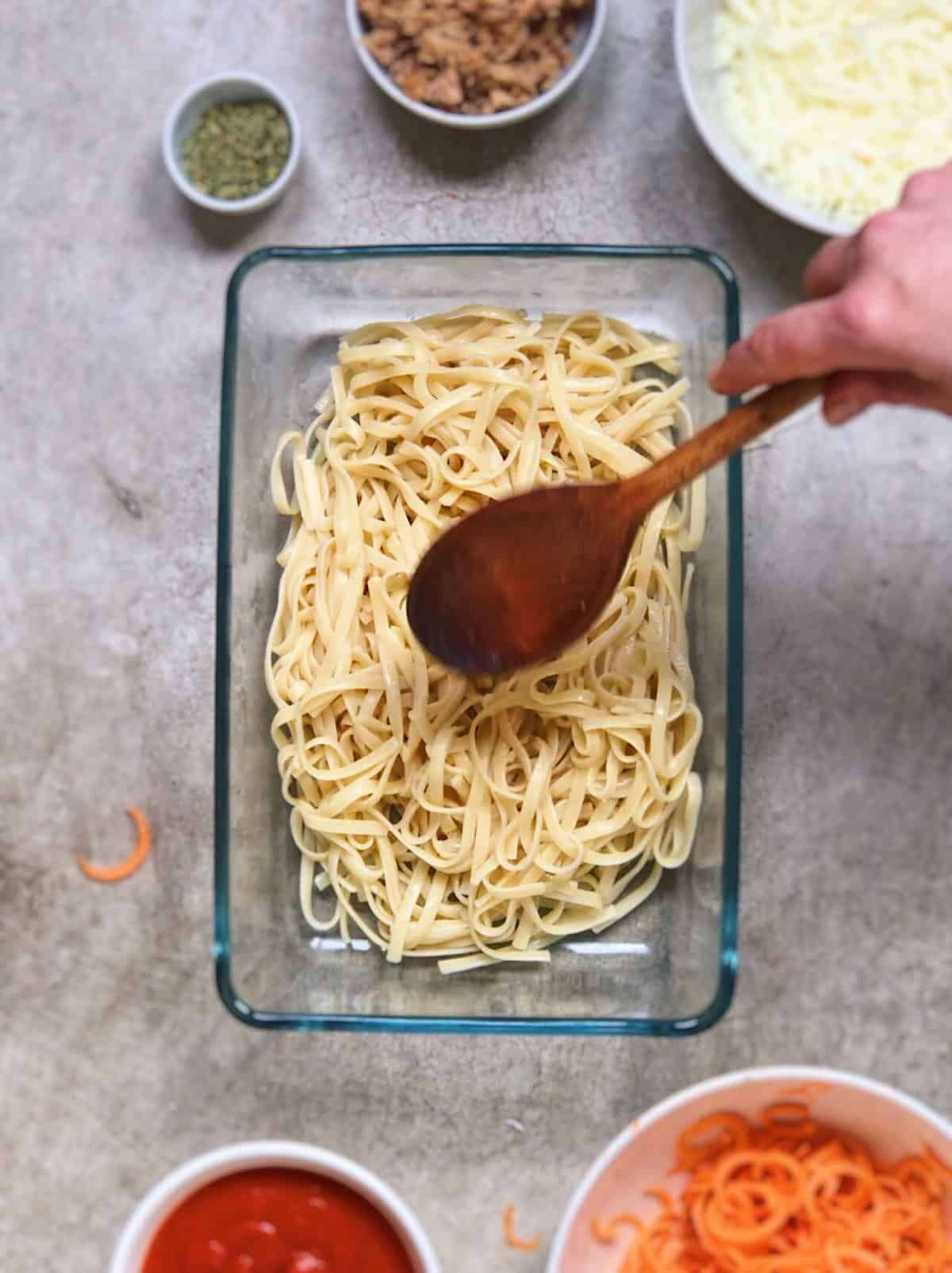Receta facil de espaguetis al horno