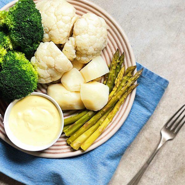 Receta de verduras con mayonesa